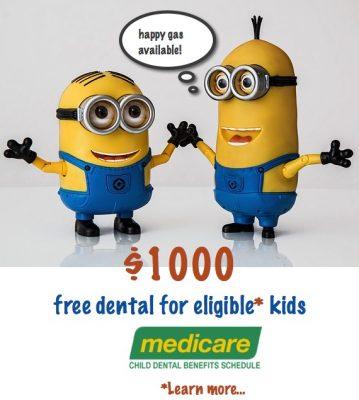 Free dental for eligible kids under Medicare